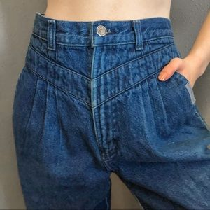 Vintage Rocky Mountain Pleated High Rise Jeans